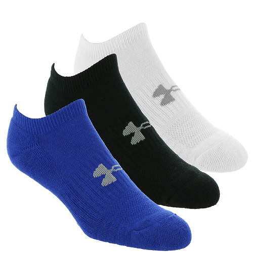 Under Armour Training Cotton No Show 3-Pack Socks