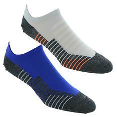 Under Armour Men's Run No Show Tab 2-Pack Socks