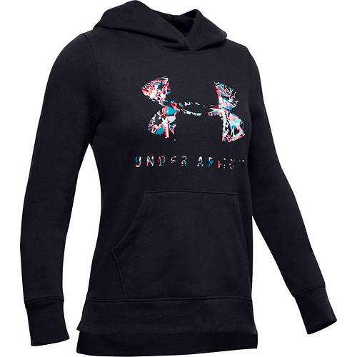 Under Armour Girls' Rival Print Fill Logo Hoodie