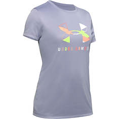 Under Armour Girls' Tech Graphic Big Logo SS