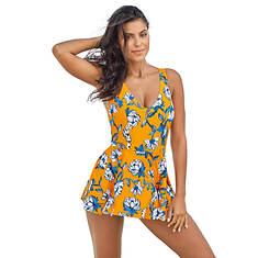 Peplum One-Piece Swimsuit