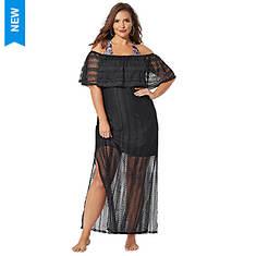 Crochet Maxi Dress Cover-Up