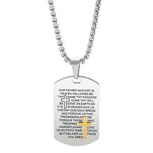 Lord's Prayer Dogtag Necklace