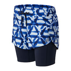 New Balance Women's Printed Impact Run 2-in-1 Short