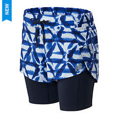 New Balance Women's Printed Impact Run 2in1 Short