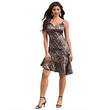 Ruffle-Hem Slip Dress