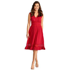Crochet Ruffle Midi Dress