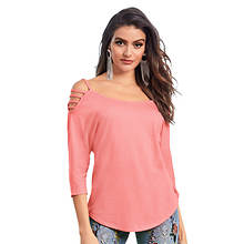 Lattice-Sleeve Dolman Top