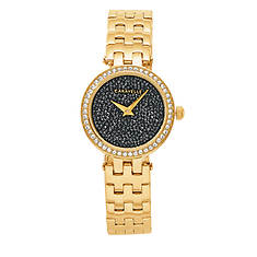 Carvelle Women's Black Crystal Watch