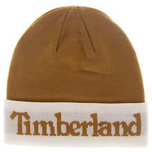 Timberland Men's Jacquard Logo Cuffed Beanie