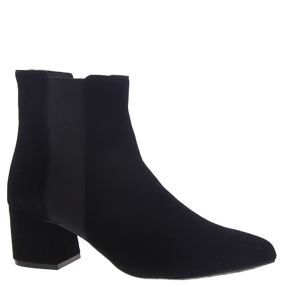 *Sleek side gores and a block heel lend an urban edge to this everyday bootie *Man-made upper with dual fabric side gore panels *Approx. 5\\\