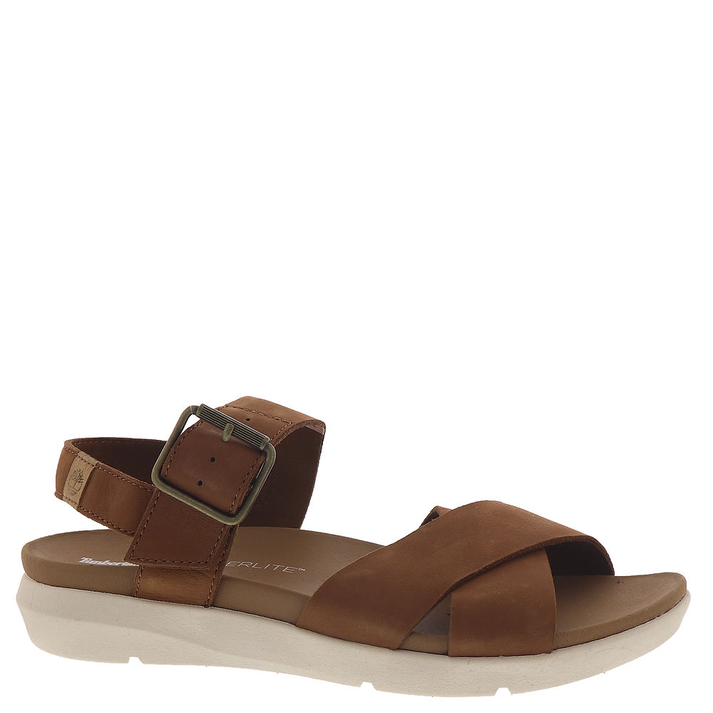 *Show off your sport-luxe taste in this on-trend and comfort-packed sandal *Nubuck leather upper *Round open toe and back *Adjustable instep strap with buckle closure *EVA cushioned footbed *Ground-contact EVA midsole *HoverLite™ comfort outsole *1\\\