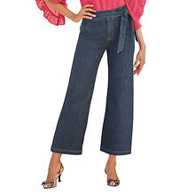 Paperbag-Waist Cropped Pant