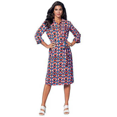 Shirtdress With Tie Waist