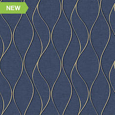 RoomMates Wave Ogee Peel and Stick Wallpaper
