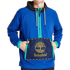 Timberland Men's Mesh Mix Media Pull Over Hoodie Sweatshirt