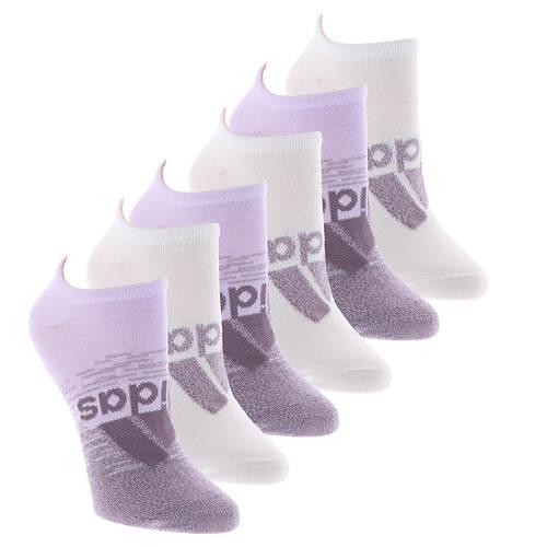 adidas Women's Superlite Badge of Sport 6-Pack No Show Socks