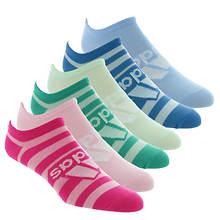 adidas Girls' Superlite Badge of Sport 6-Pack No-Show Socks