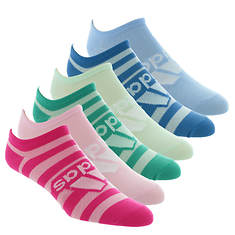adidas Girls' Superlite Badge of Sport 6-Pack No-Show Socks