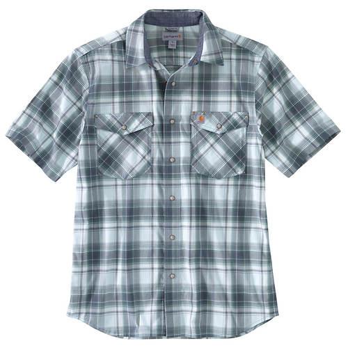 Carhartt Men's Rugged Flex Relaxed Fit Lightweight Short-Sleeved Plaid Shirt