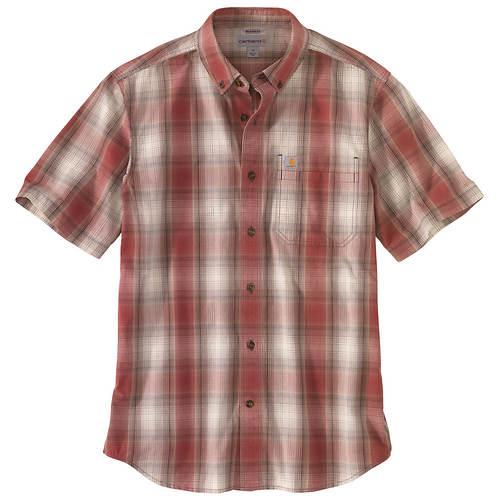 Carhartt Men's Relaxed Lightweight Short-Sleeved Button Plaid Shirt
