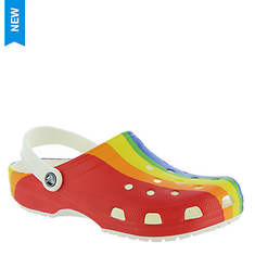 Crocs™ Classic Rainbow Stripe Clog (Unisex)