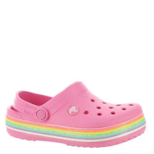 Crocs™ Crocband Rainbow Glitter Clog (Girls' Infant-Toddler-Youth)