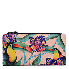 Anna by Anuschka Leather Two-Fold Clutch Wallet