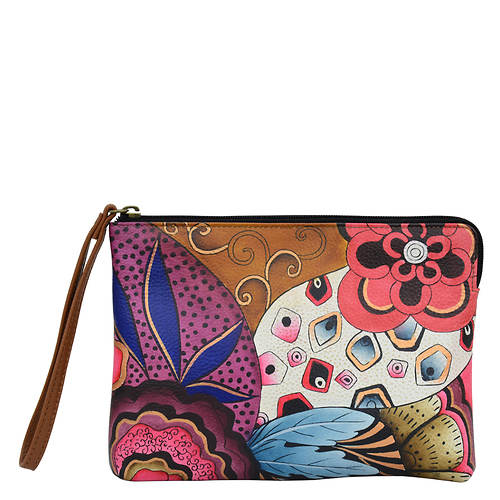 Anna by Anuschka Leather Wristlet Clutch