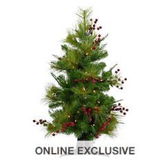 Fraser Hill 3' Newberry Pine w/LED Lights