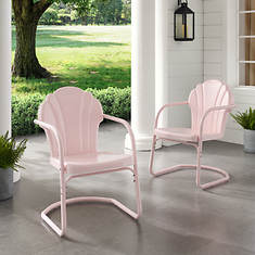 Tulip 2-Piece Retro Metal Chair Set