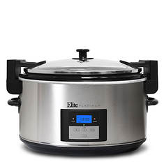 Elite 8.5-Quart Stainless Steel Programmable Slow Cooker