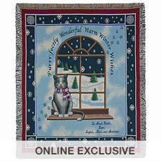 Personalized Warm Winter Wishes Throw