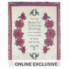 Personalized Christmas Poinsettia Throw