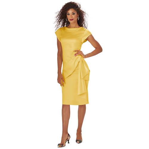 Draped Sash Dress
