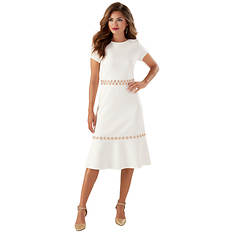 Grommet-Trim Dress
