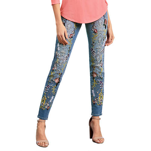 Embellished Embroidery Jean