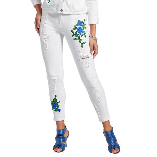 Deconstructed Embroidered Jean