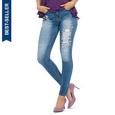 Rhinestone-Embellished Jean