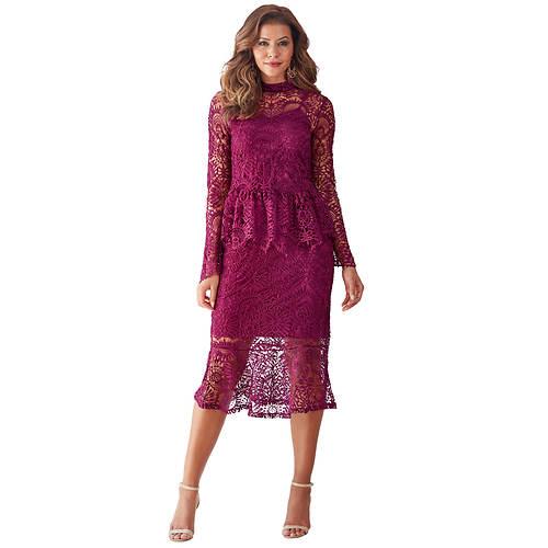 Crochet Peplum Skirt Set