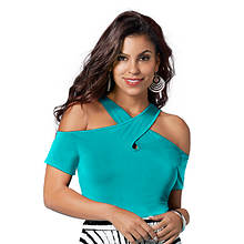 Cold Shoulder Crisscross Top