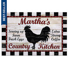 Personalized Country Kitchen Mat