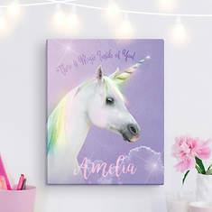 Personalized Magical Unicorn 11x14 Canvas