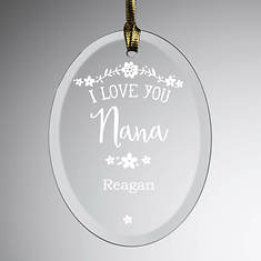 Personalized I Love You Glass Suncatcher