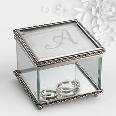 Personalized Initial Glass Keepsake Box