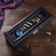 Personalized Monogram 6-Piece Watch Case