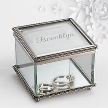 Personalized Name Glass Keepsake Box