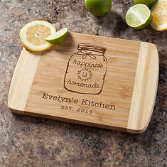 Personalized Happiness Cutting Board