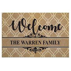 Personalized Welcome Doormat