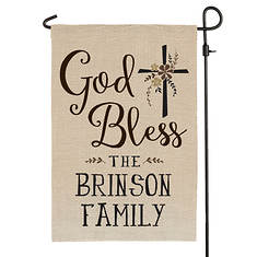 Personalized God Bless Yard Flag
